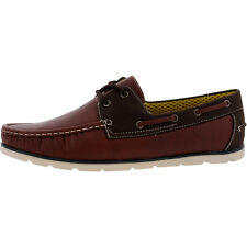 New Men's Vikings Rust - Brown Casual Boat Shoes Size 9 Brand New!