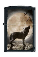 Zippo 3731 wolf howling at moon full size Lighter