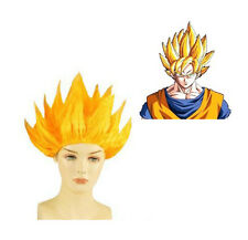 Anime Dragon Ball Z Super Saiyan 2 Goku Wig Hair Cosplay Wig Black Yellow  Party