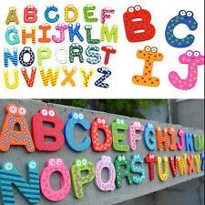 26PCS  Alphabet Fridge Magnet Wooden Baby Child Magnet Learning Educational Toys