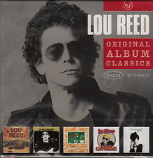 Lou Reed/ORIGINAL ALBUM CLASSICS-Berlino, Transformer tra l'altro (5 CD-BOX, NUOVO)