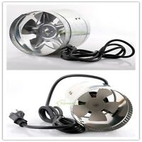 """4"""" 6"""" Inch Booster Duct Fan Exhaust Vent Air Cooled Hydroponic Inline Blower"""