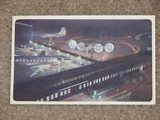American Airlines-Randolph Field, Texas at nite, used  vintage card