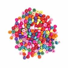 500 Pcs 4mm Colorful Rondelle Wood Spacer Loose Beads Jewelry For Making DIY