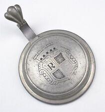 Antiker Zinndeckel für Bierkrug Stadtbrauerei Roth (5)