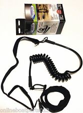 """SUP COILED LEASH, 52"""" INCH TO 104"""" INCH, STAND UP PADDLEBOARD, PADDLE SURFING"""