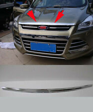 Chrome Front Grille Engine Cover Trim Molding for 2013-2015 Ford Escape Kuga
