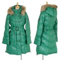 BURBERRY BLUE LABEL fur down coat Size 38(K-24850)