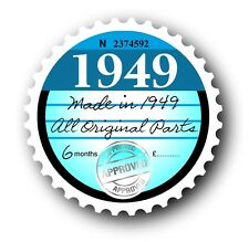 Retro 1949 Tax Disc Disk Replacement Vintage Novelty Licence Car sticker decal