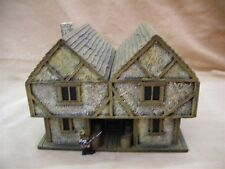 28MM PMC GAMES ME21AP (PAINTED) TWO STOREY INN SLATE ROOF - MEDIEVAL