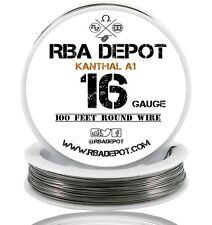 RBA Depot Kanthal A1 Wire 16 Gauge AWG 100ft 1.29mm 0.324 ohms/ft. Resistance
