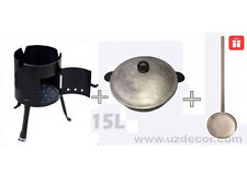 New Set Uzbek National Cookware 100% Cast-Iron Kazan+Oven 15 litres (4 gallons)