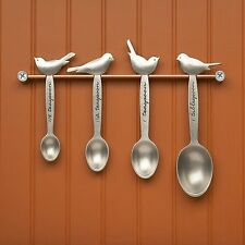 Bird Measuring Spoon Set w/ Wall Rack - Beehive Handmade - American Made