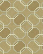 Wallpaper Modern Geometric Trellis in Gold Tan Beige