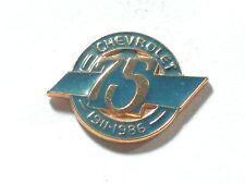 Chevrolet 75th Anniversary 1911-1986 Pin Badge -