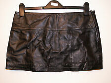 real leather micro mini skirt size 10/12