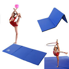 Blue Yoga 4.5'x 2'x 3cm PU Gymnastics Mat Gym Folding Panel Exercise Thick