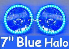 "1pr 7"" Halo Blue Headlights Holden Gemini TX TC TE TD Drover Jackaroo KB Rodeo"