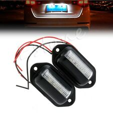 2x 12V 6 LED Number License Plate Tag Interior Step Light RV Boat Trailer Truck