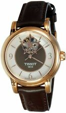 T050.207.37.117.04 Lady Heart Powermatic 80 Rose Gold Case Brown MOP Dial Watch