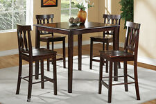 Kitchen Dining 5 Piece Set Wood  Furniture Table and 4 Chairs