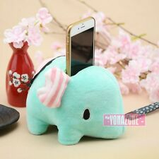Cute Plush Lemon Elephant Cell Phone Holders Kawaii iPhone seat Animal Toys Gift