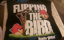 t-Shirt Angry Birds Flipping The Bird 100% Cotton Graphic Tee L