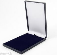 SLIM BLUE 150 x 105 x 17mm Leatherette Necklace Jewellery Gift Presentation Box