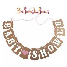 Baby Shower Bunting Party Banner Garland Photo Props heart decorations