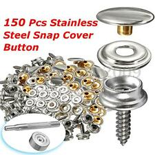 """152PCS 3/8"""" Boat Marine Canvas Canopy Fastener Snap Cover Button Sockets + Screw"""