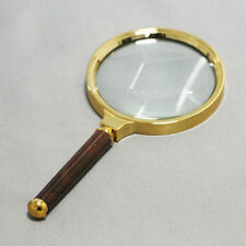 9cm 3.5 inch 10X Hand Held Glass Lens Magnifier Loupe Reading Magnification