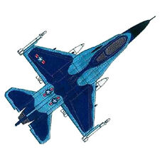 """F-16 Falcon, Military, Plane, Embroidered Patch 10.2"""" x 8"""""""