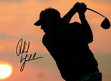 Phil MICKELSON Signed Autograph 16x12 GOLF The Masters USA WINNER AFTAL COA