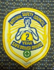 NATIONAL SAFETY COUNCIL 2 YEAR SAFE DRIVER AWARD Iron or Sew-On Patch