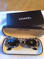 "Rare Authentic Vintage Chanel Sunglasses - Style 18316-""CC"" Logo -BLACK/WHITE"