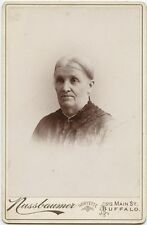 OLDER LADY IN NICE DRESS BY NUSSBAUMER, BUFFALO, NEW YORK, CABINET CARD