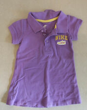 Diseñador vestido con cuello púrpura deportivo Nike encantadora 2 años de edad bebé niña 24 meses