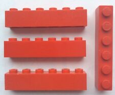 LEGO 3009 Rouge lot de 4 Brique Poutre 1x6 Brick Red