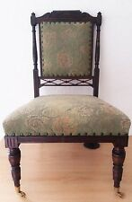 ANTIQUE /  VICTORIAN ROSEWOOD NURSING CHAIR