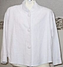 Stan Herman Womens Chenille Bed Jacket Large Vintage Sized Style Pale Pink Warm