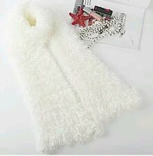 Women Ladies Magic Scarf Fluffy Snood Shawl Neck Warmer Poncho For Over Cardigan