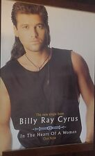 "40x60"" HUGE SUBWAY POSTER~Billy Ray Cyrus In the Heart of a Woman 1993 NOS Rare~"