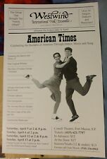 AMERICAN TIMES poster Westwind International Folk Ensemble presents dance music