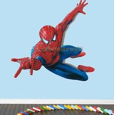 Huge 110*90cm SPIDERMAN Wall Stickers Boys Bedroom Decor Removable Vinyl Paper