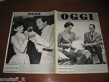 OGGI 1955/23=AUDREY HEPBURN=MEL FERRER=MONDOVI'=WALTER CHIARI=