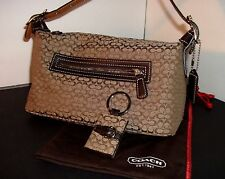 COACH Hamptons Hobo SIGNATURE MINI C 6332, PHOTO KEYCHAIN Dust Bag Lot Set EUC
