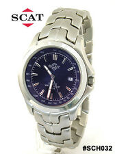 Mens 100m SCAT  Surf / Sports Watch w/Blue face and Stainless Steel band