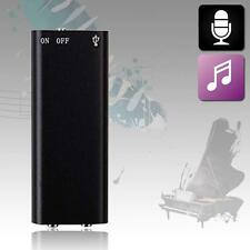 8GB Spy Bug Micro Digital Voice Sound Recorder + MP3 Player MUSIC Headphone LN