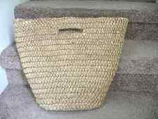WOMEN'S VERA WANG SIMPLY VERA SUPER SIZE STRAW BEACH TOTE BASKET BOHO HANDBAG