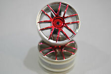 02018PR Paar Kreise Fahren Kreis Chrom Red 1/10 Himoto/WHEELS RIMS ROAD